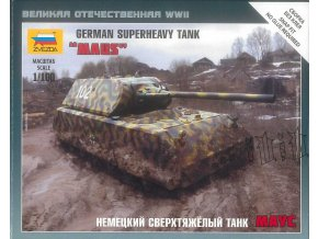 Zvezda - Pz.Kpfw.VIII ''Maus'', Wargames (WWII) tank 6213, 1/100