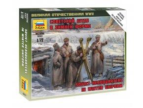 Zvezda - figurky sovětské velení v zimních uniformách, Wargames (WWII) figurky 6231, 1/72