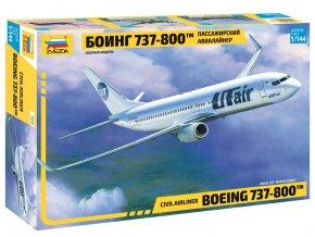 Zvezda - Boeing B737-800, UT Air, Model Kit letadlo 7019, 1/144