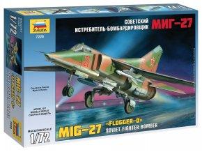 """Zvezda - Mikojan-Gurevič MiG-27 """"Flogger-D/J"""", Model Kit letadlo 7228, 1/72"""