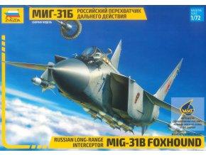 Zvezda - Mikojan-Gurjevič MiG-31 B ''Foxhound'', Model Kit letadlo 7244, 1/72