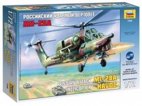"""Zvezda - Mil Mi-28 """"Havoc"""", 1/72, Model Kit vrtulník 7246"""