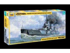 Zvezda - bitevní loď Poltava, 1/350,  Model Kit 9060