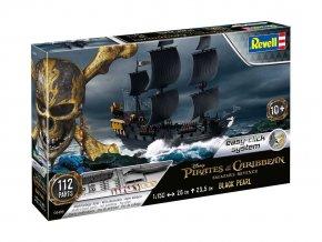 Revell - Černá perla / Black Pearl, Piráti z Karibiku, 1/150, EasyClick loď 05499