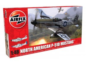 Airfix - North American P51-D Mustang, USAF, 1/48, nová forma, Classic Kit letadlo A05131
