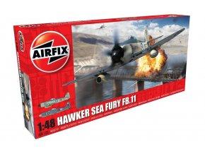Airfix - Hawker Sea Fury FB.II, RAF, nová forma, Classic Kit letadlo A06105, 1/48
