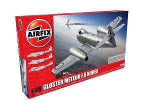 Airfix - Gloster Meteor F8, RAF / RAAF, Korejská válka, Classic Kit letadlo A09184, 1/48