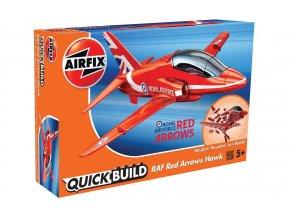 Airfix - Bae Hawk, RAF, Red Arrows, Quick Build letadlo J6018