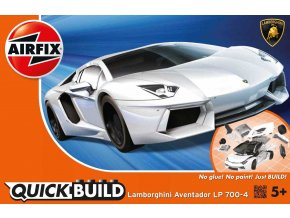 Airfix - Lamborghini Aventador - bílá, Quick Build J6019