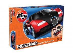 Airfix - Bugatti Veyron - červená, Quick Build J6020