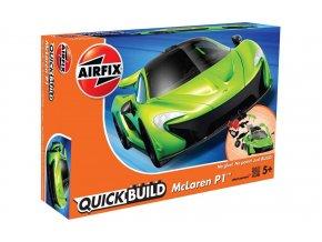 Airfix - McLaren P1 - zelená, Quick Build J6021