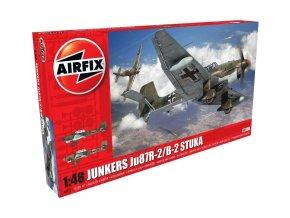 Airfix - Junkers Ju-87 B-2/R-2 Stuka, Luftwaffe, 2./Sturzkampfgeschwader, Classic Kit letadlo A07115, 1/48