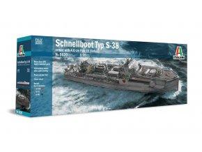 Italeri - Schnellboot S-38 s flakem Bofors, 1/35, Model Kit 5620