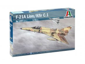 Italeri - F-21A Lion/KFIR C.1, USMC / US NAVY / izraelské letectvo, Model Kit letadlo 1397, 1/72