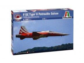 Italeri - Northrop F-5E Tiger ll, akrobatický tým Patrouille Suisse, 50th Anniversary, Model Kit letadlo 1395, 1/72