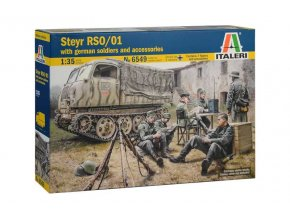 Italeri - Steyr RSO / 01 s vojáky, Wehrmacht, Model Kit military 6549, 1/35