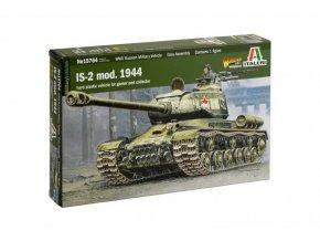 Italeri - sovětský těžký tank IS-2 Mod. 1944, Wargames tank 15764, 1/56