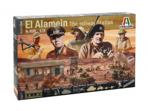 Italeri - EL ALAMEIN WAR - BATTLESET, Model Kit diorama 6181, 1/72