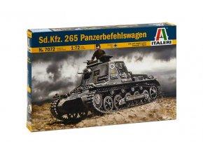 Italeri - Sd.Kfz. 265 Panzerbefehlswagen, Model Kit military 7072, 1/72