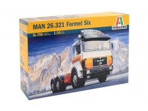Italeri - tahač Man 26.321 Formel Six, 1/24, Model Kit 0756