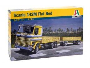italeri - nákladní vůz s vlekem Scania 142M, 1/24, Model Kit 0770