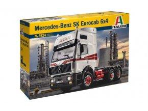 Italeri - tahač Mercedes-Benz SK Eurocab 6x4, 1/24, Model Kit 3924