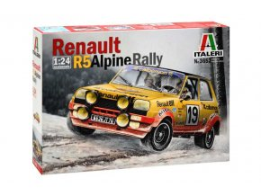 Italeri - Renault R5 Alpine Rally, Model Kit 3652, 1/24