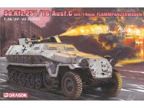 Dragon - Sd.Kfz.251/16 Ausf.C ''Hakl'' Flammpanzerwagen, plamenometná verze, Model Kit tank 6864, 1/35