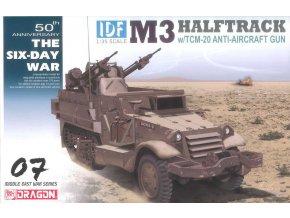Dragon - M3 Halftrack s 20 mm protiletadlovými kanóny, Model Kit military 3586, 1/35