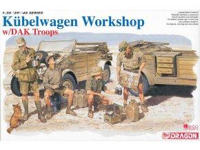 Dragon - KdF 82 Kübelwagen s posádkou Afrikakorps, Model Kit military 6338, 1/35