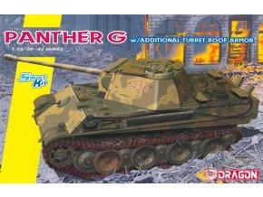 Dragon - Pz.Kpfw.V Ausf.G Panther s přídavným pancéřováním, Model Kit tank 6897, 1/35