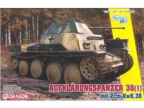 Dragon - Aufklärungspanzer 38(t) mit 2cm Kw.K.38, průzkumný tank, Model Kit military 6890, 1/35