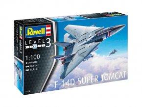 Revell - Grumman F-14D Super Tomcat, Plastic ModelKit letadlo 03950, 1/100