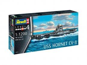 Revell - letadlová loď USS Hornet CV-8, ModelKit 05823