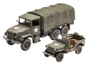 Revell - M34 Tactical Truck & Jeep Willis MB, US Army, Plastic ModelKit military 03260, 1/35