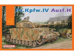 Dragon - Pz.Kpfw.IV Ausf.H, 1/72, Model Kit tank 7551