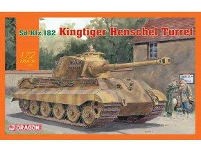 Dragon - Pz.Kpfw.VI Ausf.B Tiger II - Königstiger, věž Henschel Turret, Model Kit tank 7558, 1/72