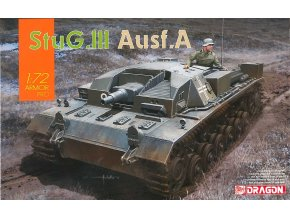 Dragon - Sd.Kfz.142 Sturmgeschütz III Ausf.A - StuG III, 1/72, Model Kit military 7557