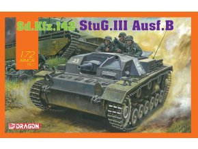 Dragon - Sd.Kfz.142 Sturmgeschütz III Ausf.B - StuG III, 1/72, Model Kit tank 7559