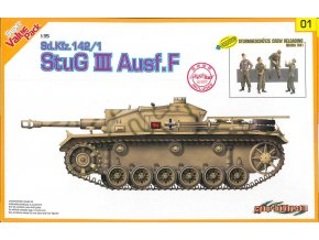 Dragon - Sd.Kfz.142 Sturmgeschütz III Ausf.F - StuG III s posádkou,1/35, Model Kit tank 9101