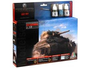 Italeri - M4 Sherman, 1/72, Model Set World of Tanks 74002