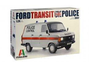 Italeri - Ford Transit, britská policie, Model Kit 3657, 1/24