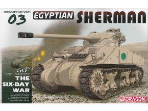 Dragon - M4 Sherman, egyptská armáda, Šestidenní válka, Model Kit tank 3570, 1/35