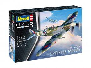 Revell - Supermarine Spitfire Mk.Vb, Plastic ModelKit letadlo 03897, 1/72