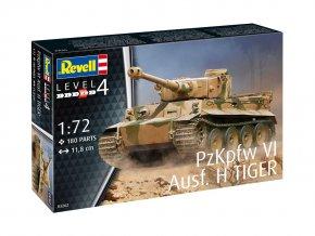 Revell - Pz.Kpfw.VI Ausf.H Tiger I, 1/72, Plastic ModelKit tank 03262