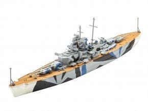 Revell - bitevní loď Tirpitz, 1/1200, ModelSet 65822