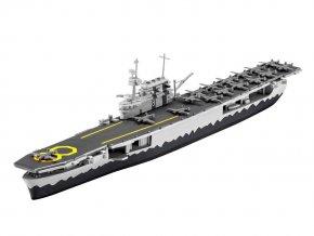 Revell - letadlová loď USS Hornet, 1/1200, ModelSet 65823