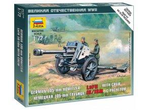Zvezda - lehká polní houfnice 10,5 cm leFH 18, 1/72, Wargames (WWII) military 6121