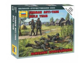 Zvezda - figurky německý protititankový střelecký tým, Wehrmacht, Wargames figurky 6216, 1/72