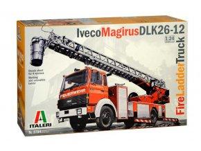 Italeri - Iveco Magirus DLK 26-12, hasičská plošina, 1/24, Model Kit 3784